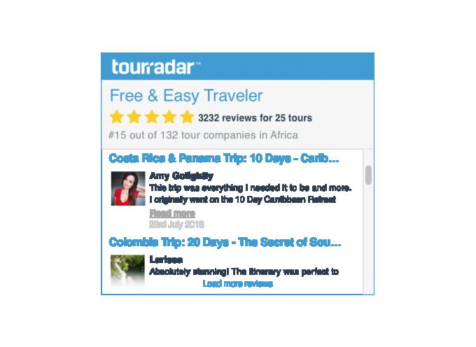 Operator Reviews Widget Tourradar