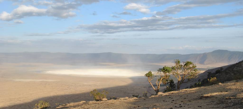 ngorongoro crater from above