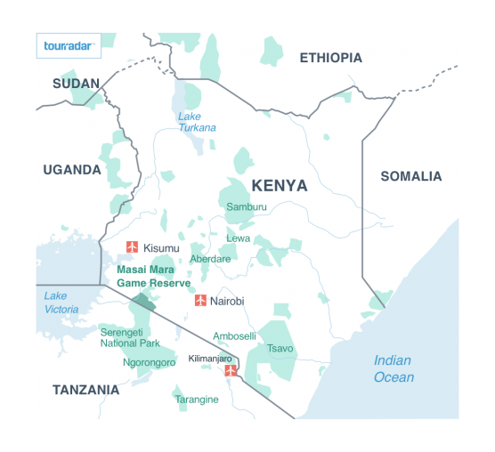 Masai Mara Maps Location Migration Road Map Tourradar