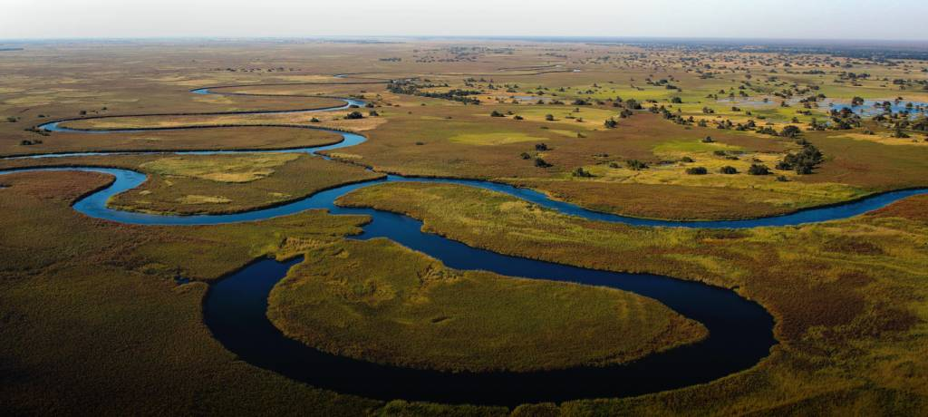Okavango Delta view from above