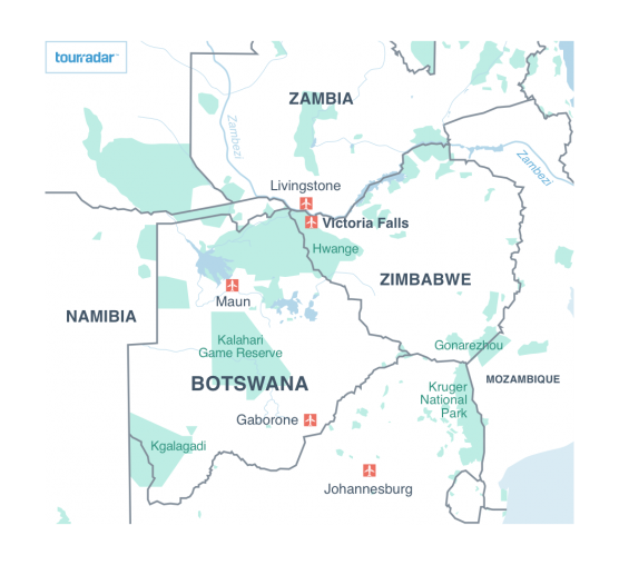 Victoria Falls Location And Area Maps Tourradar