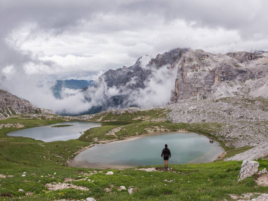 backpacking dolomites tours