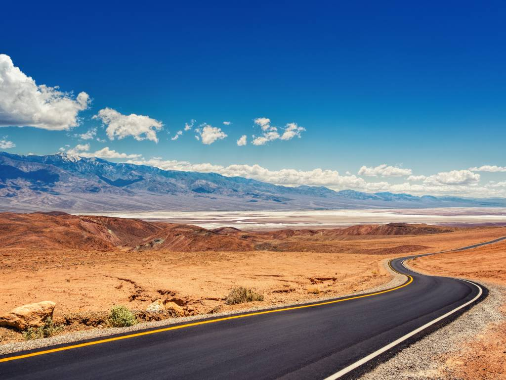 View of Death Valley in California, USA