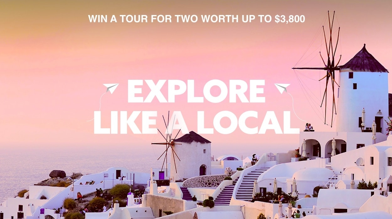 Win a tour for 2 valued up to $4,200