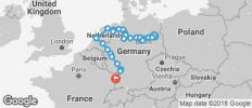 From Berlin to Strasbourg - 25 destinations