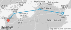 Shikoku 88 Pilgrimage Self-Guided 8 Days (from Tokushima City to Matsuyama) - 4 destinations