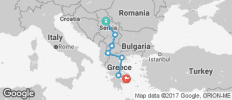 Belgrade to Athens Excursion Tour - 7 destinations