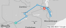 "Zambia & Malawi ""Livingstone Trail\"" - 9 destinations"