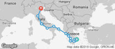 Greece and Italy (from Athens to Venice) - 17 destinations