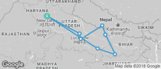 Buddhist Pilgrimage Tour of Incredible India and Nepal - 8 destinations