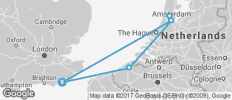 Amsterdam and Bruges - from Hastings - 6 destinations