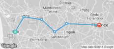 Self-Guided Cycling Pisa to Florence - 6 destinations