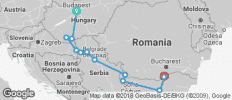 Gems of Southeast Europe 2018 Start Budapest, End Giurgiu - 12 destinations