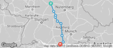 Easy Guided Bike Tour ROMANTIC ROAD TO THE ALPS (from Wurzburg to Schwangau) - 9 destinations