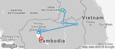 Southern Laos in to Cambodia - 8 destinations