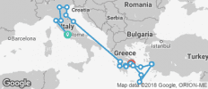 Italy & Greece Including Cruise (outside Cabin) 2018 - 22 destinations