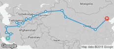 Silk Road Railway (from Shiraz to Beijing) - 15 destinations