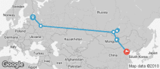 The Vodkatrain (St. Petersburg to Beijing) - 10 destinations
