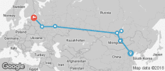The Vodkatrain (Beijing to St. Petersburg) - 9 destinations