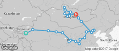 Silk Route between Kashgar and Ulaanbaatar (Kashgar to Ulaanbaatar) - 30 destinations