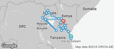 Africa East & South between Nairobi and Zanzibar with Gorillas (Zanzibar to Nairobi) - 21 destinations