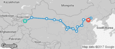 Silk Route between Kashgar and Beijing (Kashgar to Beijing) - 16 destinations