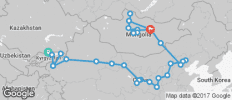 Silk Route between Bishkek and Ulaanbaatar (Ulaanbaatar to Bishkek) - 32 destinations