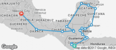 Pan American between Mexico City and Antigua (Mexico City to Antigua) - 20 destinations