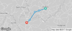 The Way of St James - Le Puy to Aumont - 5 destinations