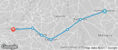 The Way of St James -  Aumont to Conques - 7 destinations