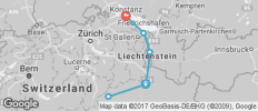 Alpine Rhine Cycle - 6 destinations