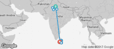 Delhi to Colombo - 15 days - 15 destinations