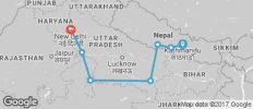 Kathmandu to Delhi - 7 destinations