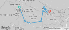 India to Nepal - 10 destinations