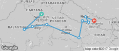 Delhi to Kathmandu on a Shoestring - 9 destinations