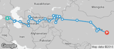 Silk Route between Tbilisi and Xi\'an (from Tbilisi to Xi\'an) - 35 destinations