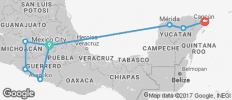 Mexico Grande (from Mexico City to Cancun) - 9 destinations