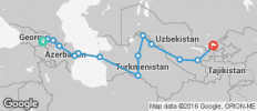 Silk Route between Tbilisi and Tashkent (from Tbilisi to Tashkent) - 15 destinations