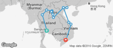 Thailand, Laos & Vietnam Adventure - 14 destinations