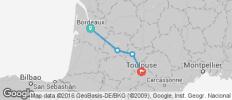 Bordeaux to Toulouse Cycle - 4 destinations