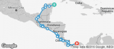 Cancun - Antigua - San Jose - Panama - 33 destinations