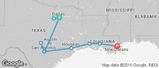 Texas - the Lone Star State 2018 (from Dallas to New Orleans) - 10 destinations