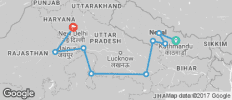 Kathmandu to Delhi Adventure - 9 destinations