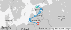 Cycle the Baltics - 25 destinations