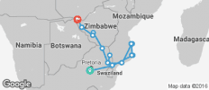 Mozambique and Zimbabwe Explorer Northbound (from Johannesburg to Victoria Falls) - 17 destinations