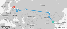 Beijing to St Petersburg - 9 destinations