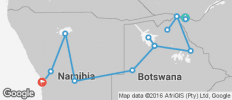 Desert Delta Express Southbound (from Livingstone to Swakopmund) - 15 destinations
