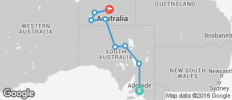 Adelaide to Alice Springs Overland - 8 destinations