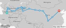 Ashgabat To Beijing (63 Days) Silk Road Highlights & China - 22 destinations