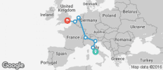 Rome To London - 10 Days - 9 destinations